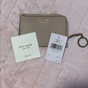Kate Spade NWT unattached l-zip card holder